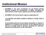 institutional mission