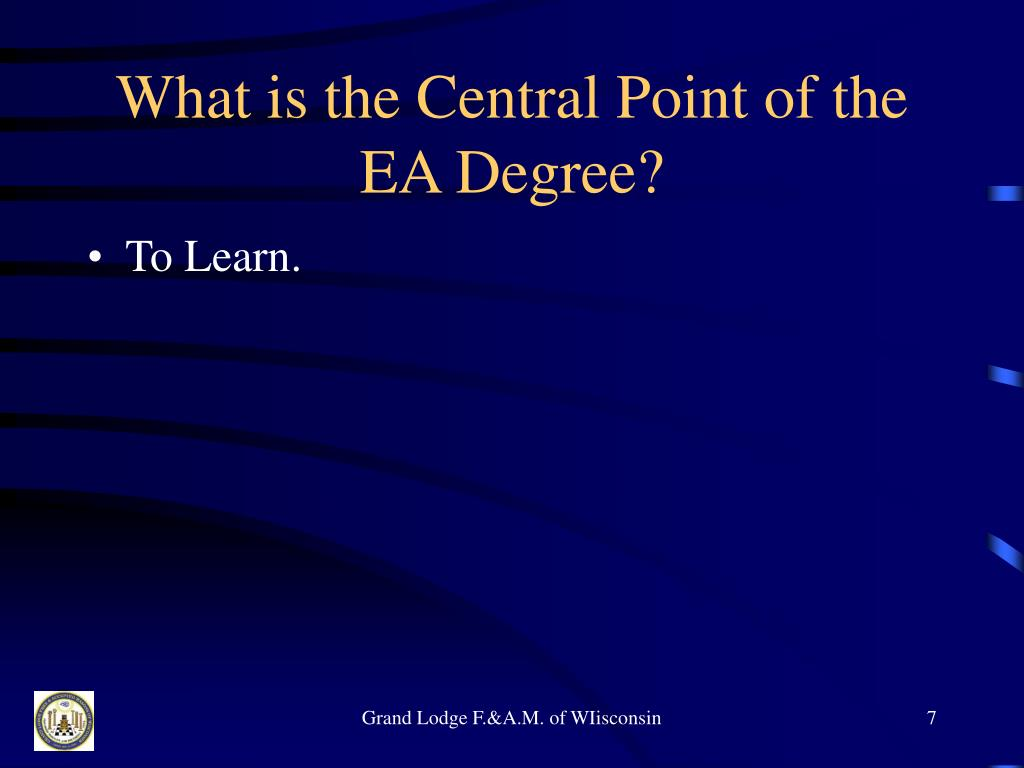 What is the Central Point of the EA Degree?