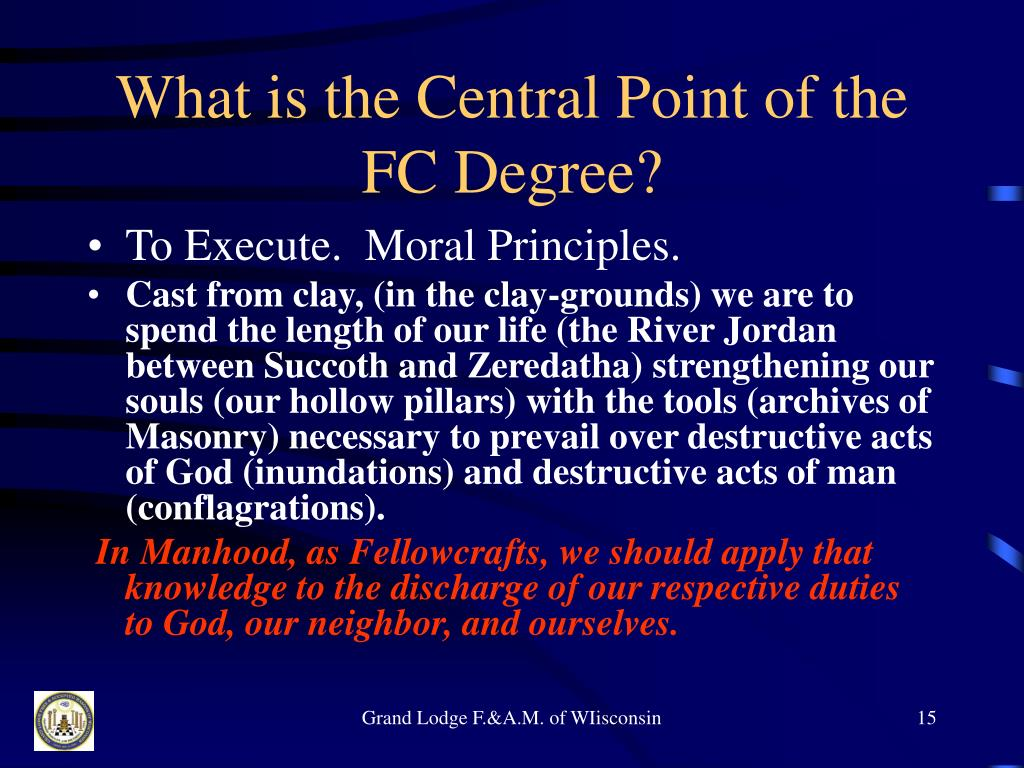 What is the Central Point of the FC Degree?
