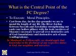 what is the central point of the fc degree15