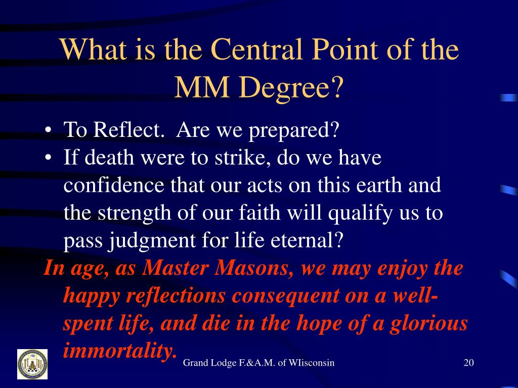 What is the Central Point of the MM Degree?