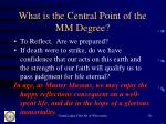 what is the central point of the mm degree20