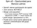 spin off oportunidad para bancos latinos