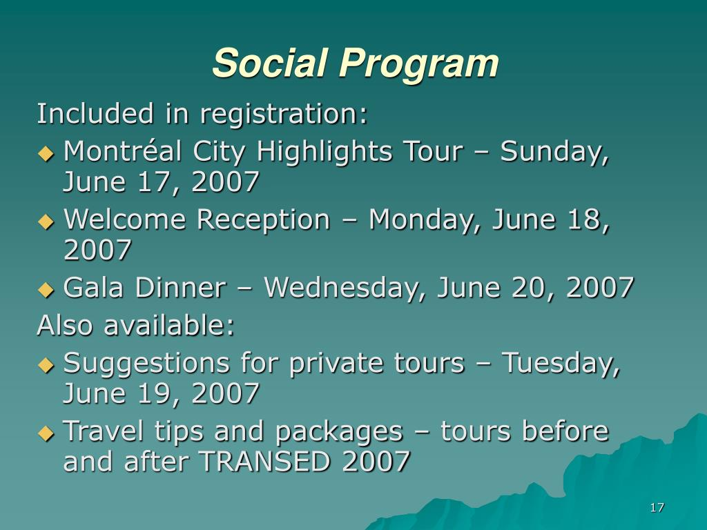 Social Program