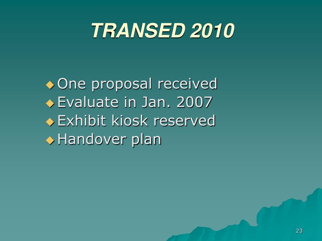 TRANSED 2010