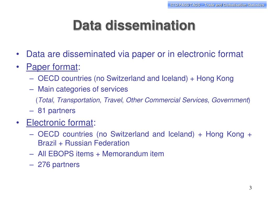 Data dissemination