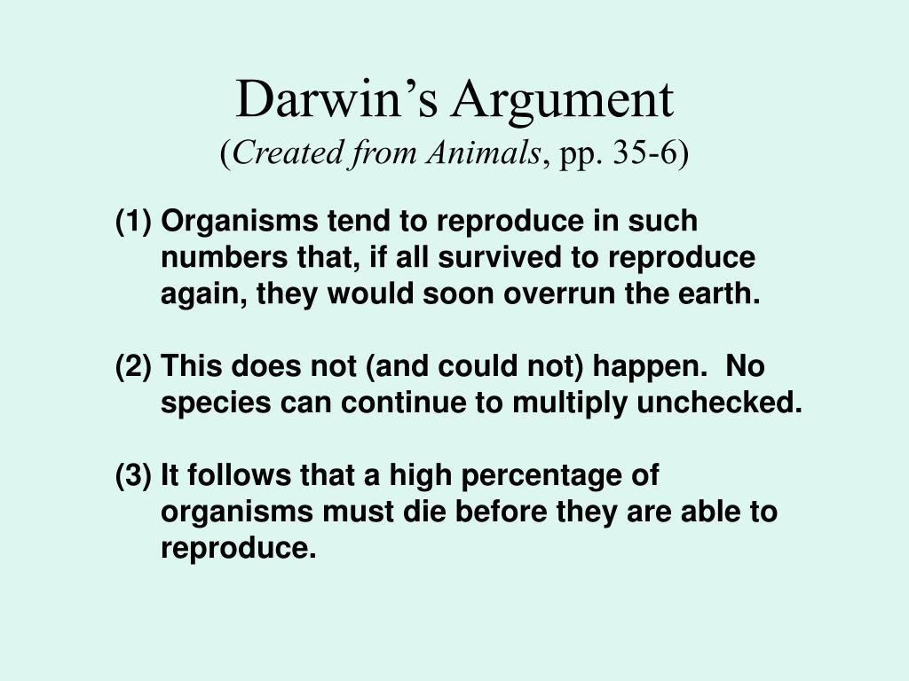 Darwin's Argument