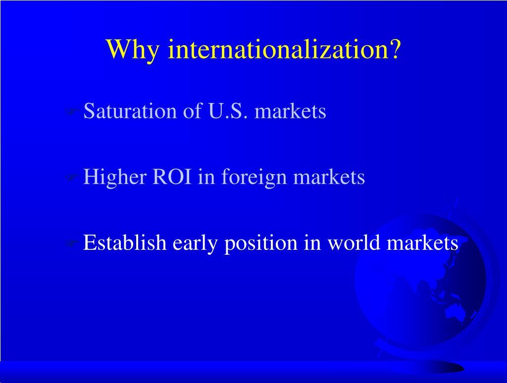 Why internationalization?