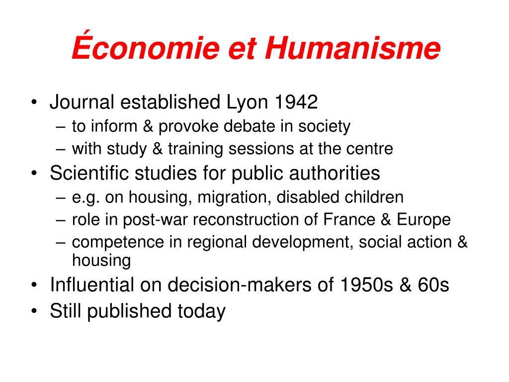 Économie et Humanisme