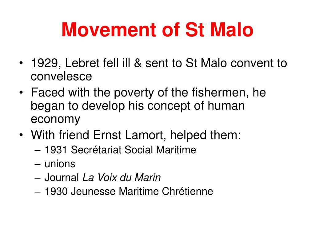 Movement of St Malo