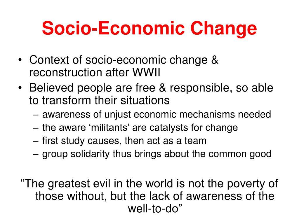 Socio-Economic Change