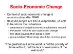socio economic change