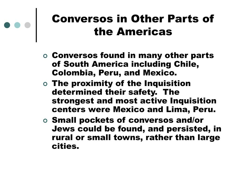 Conversos in Other Parts of the Americas