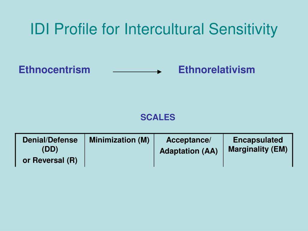 IDI Profile for Intercultural Sensitivity