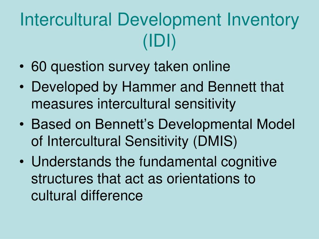 Intercultural Development Inventory (IDI)