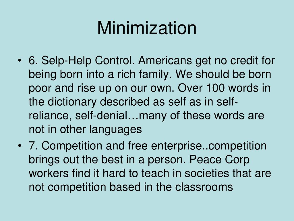 Minimization