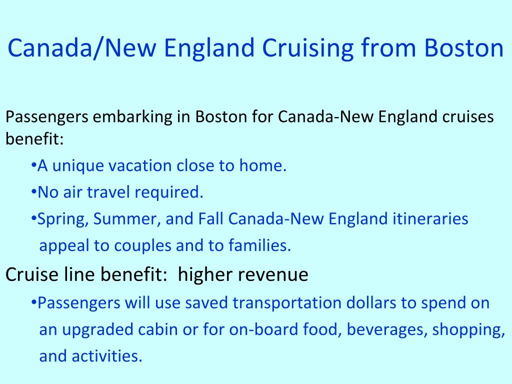 Canada/New England Cruising from Boston