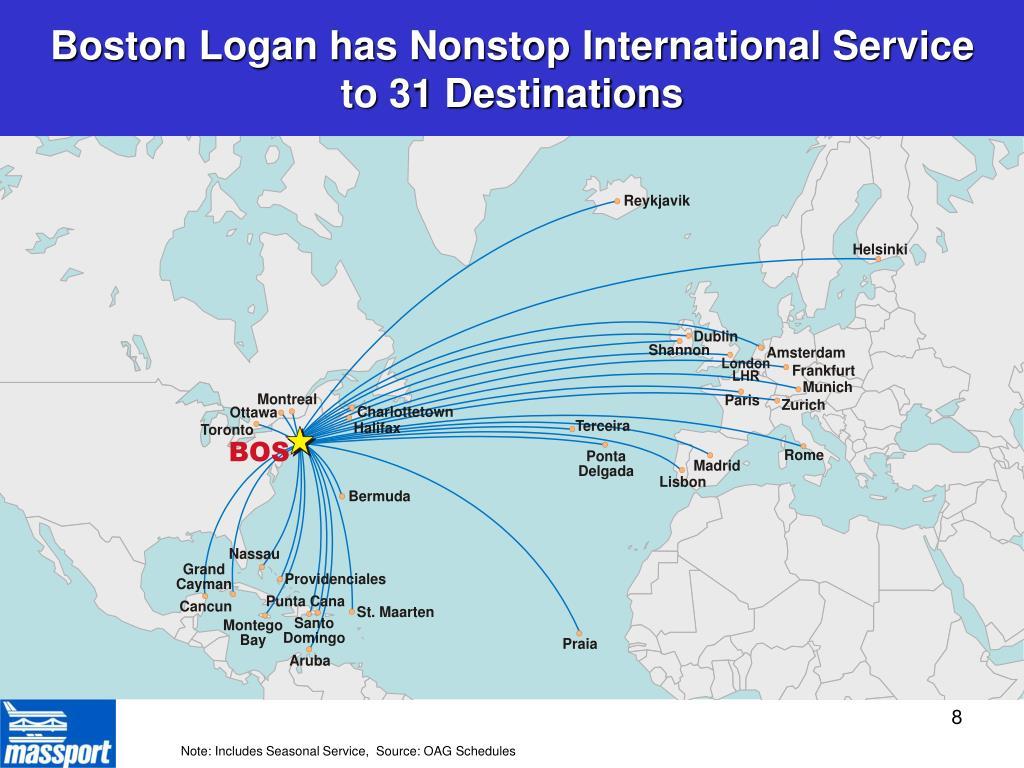 Boston Logan has Nonstop International Service