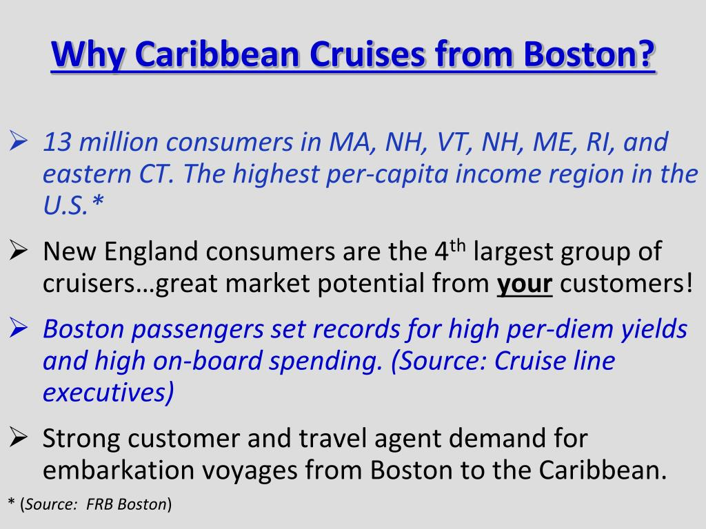 Why Caribbean Cruises from Boston?