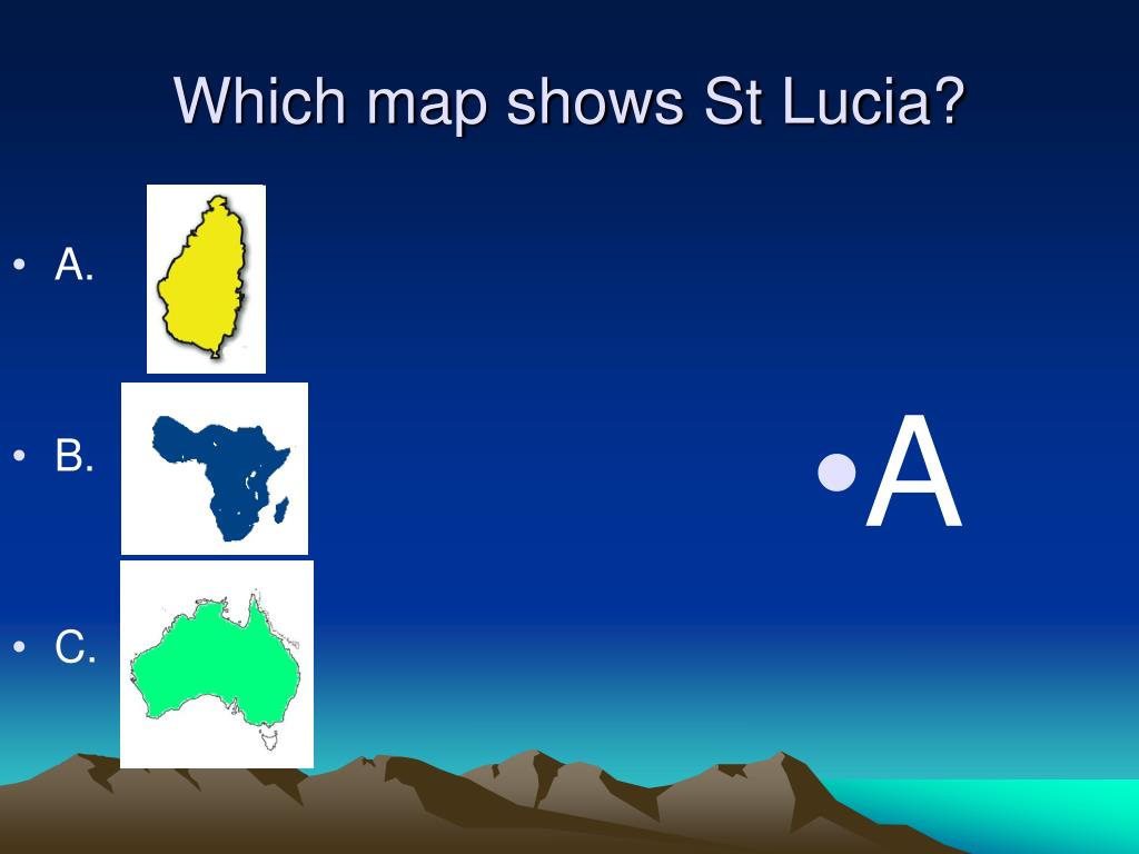 Which map shows St Lucia?