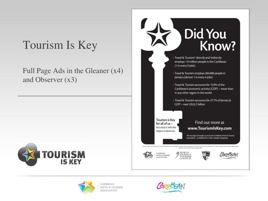 Tourism Is Key