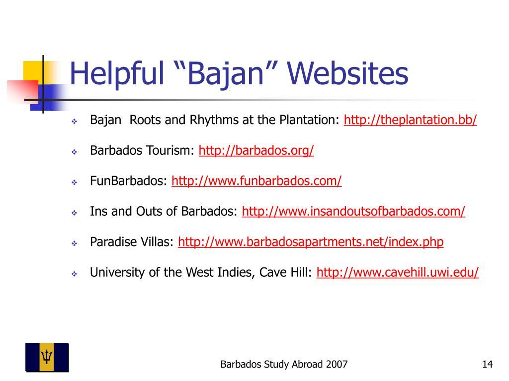 """Helpful """"Bajan"""" Websites"""