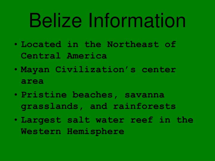 Belize information