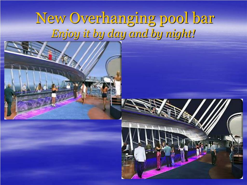 New Overhanging pool bar