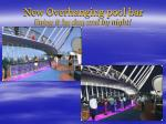 new overhanging pool bar enjoy it by day and by night