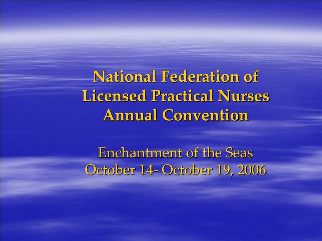 National Federation of Licensed Practical Nurses