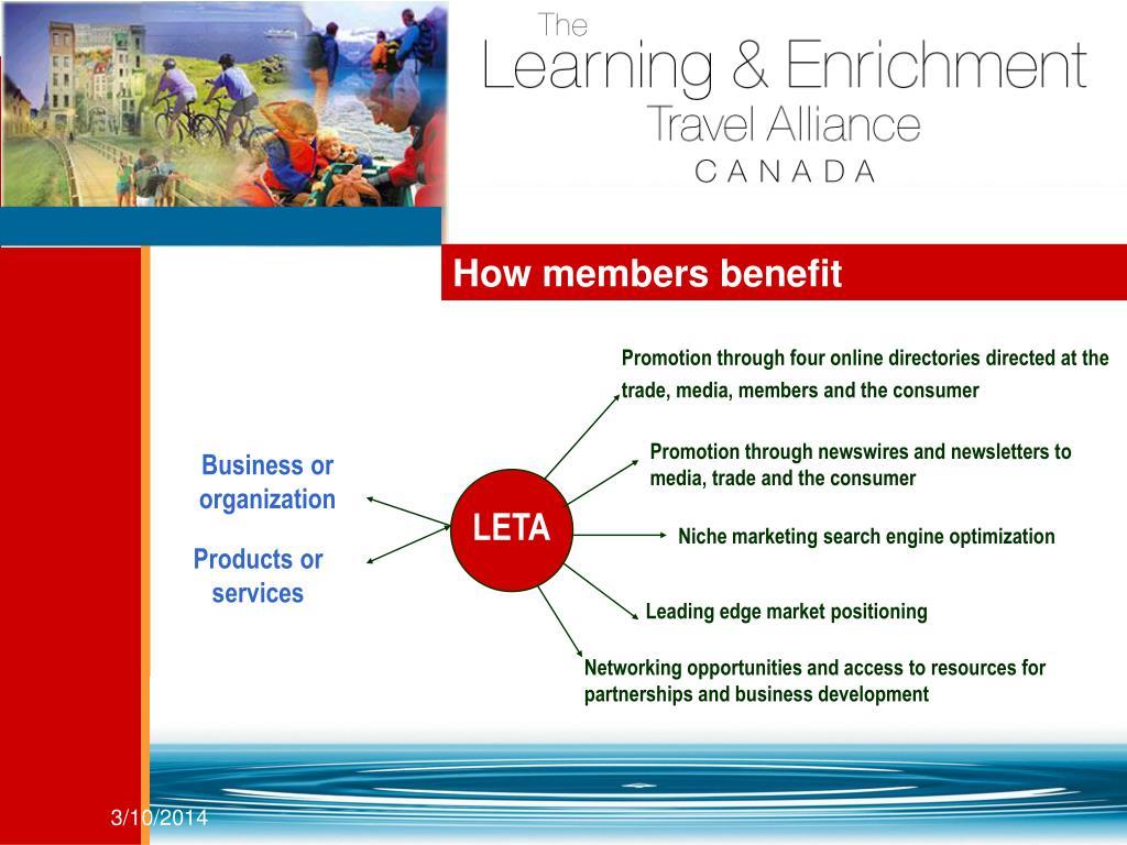 How members benefit