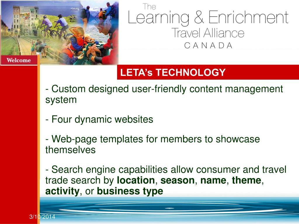 LETA's TECHNOLOGY
