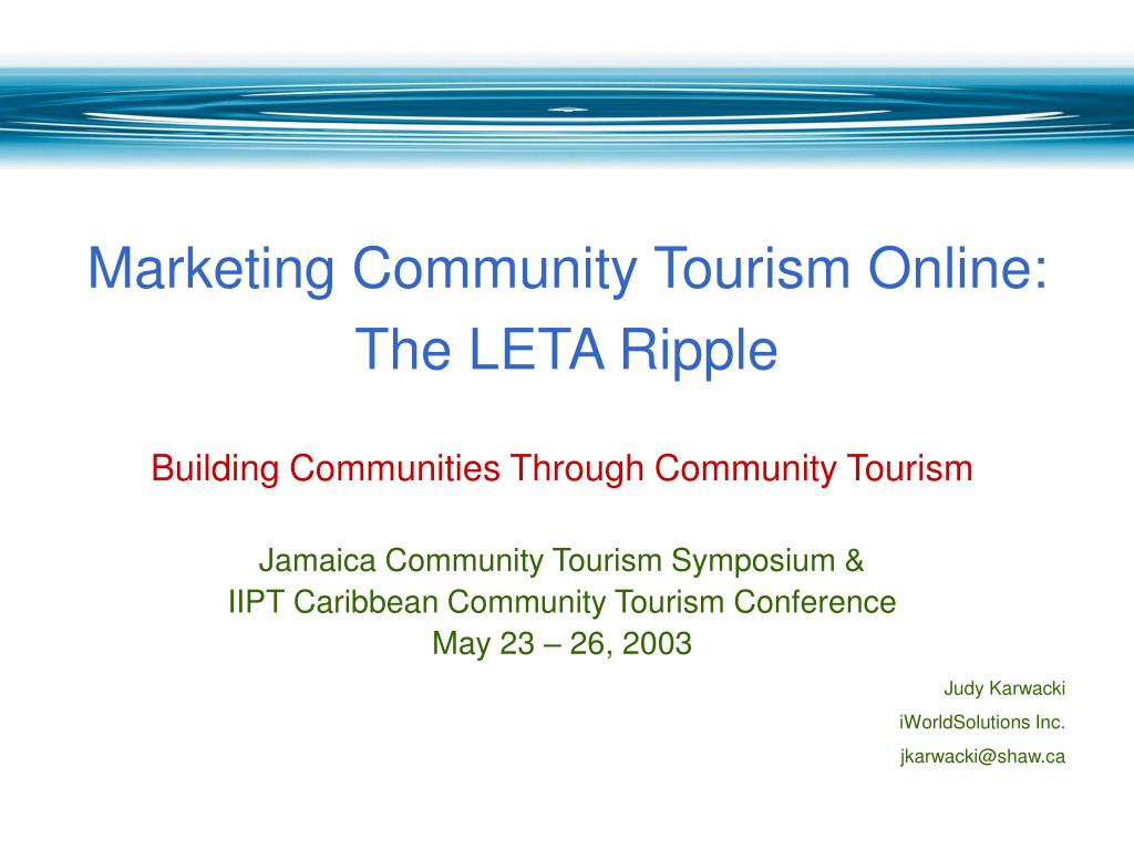 Marketing Community Tourism Online: