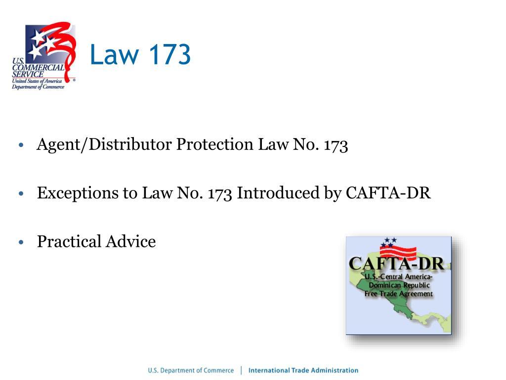 Law 173