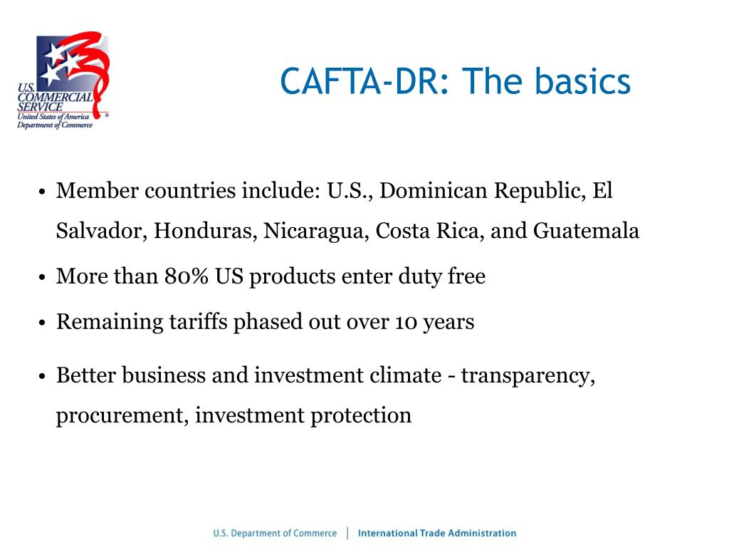CAFTA-DR: The basics