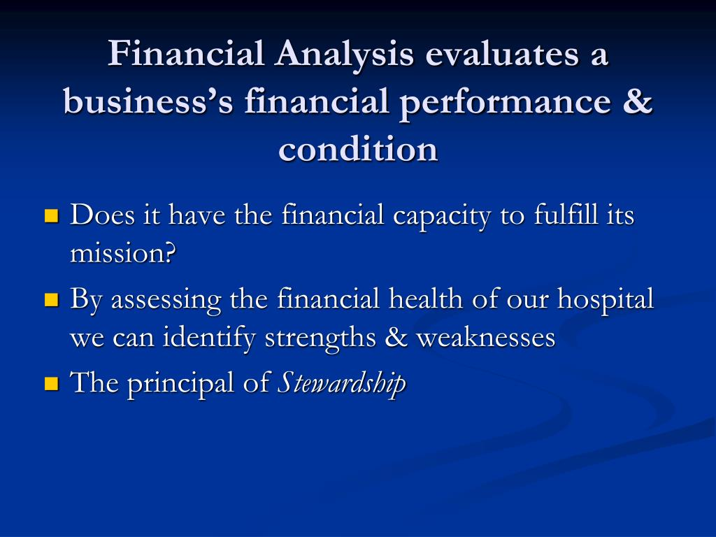 assessing compnays financial health