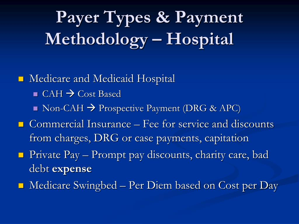 the fee for service and capitation payment cycles