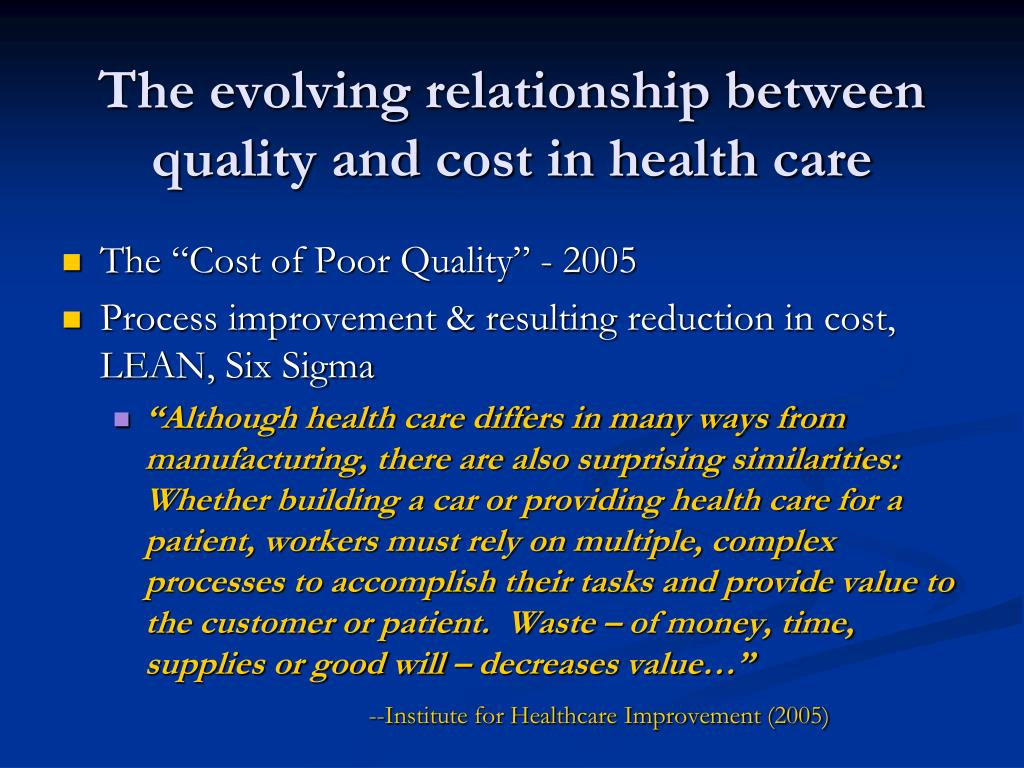 relationship between the right price and quality