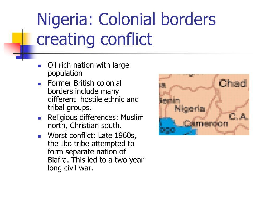 Nigeria: Colonial borders creating conflict