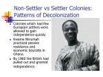 non settler vs settler colonies patterns of decolonization