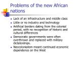 problems of the new african nations