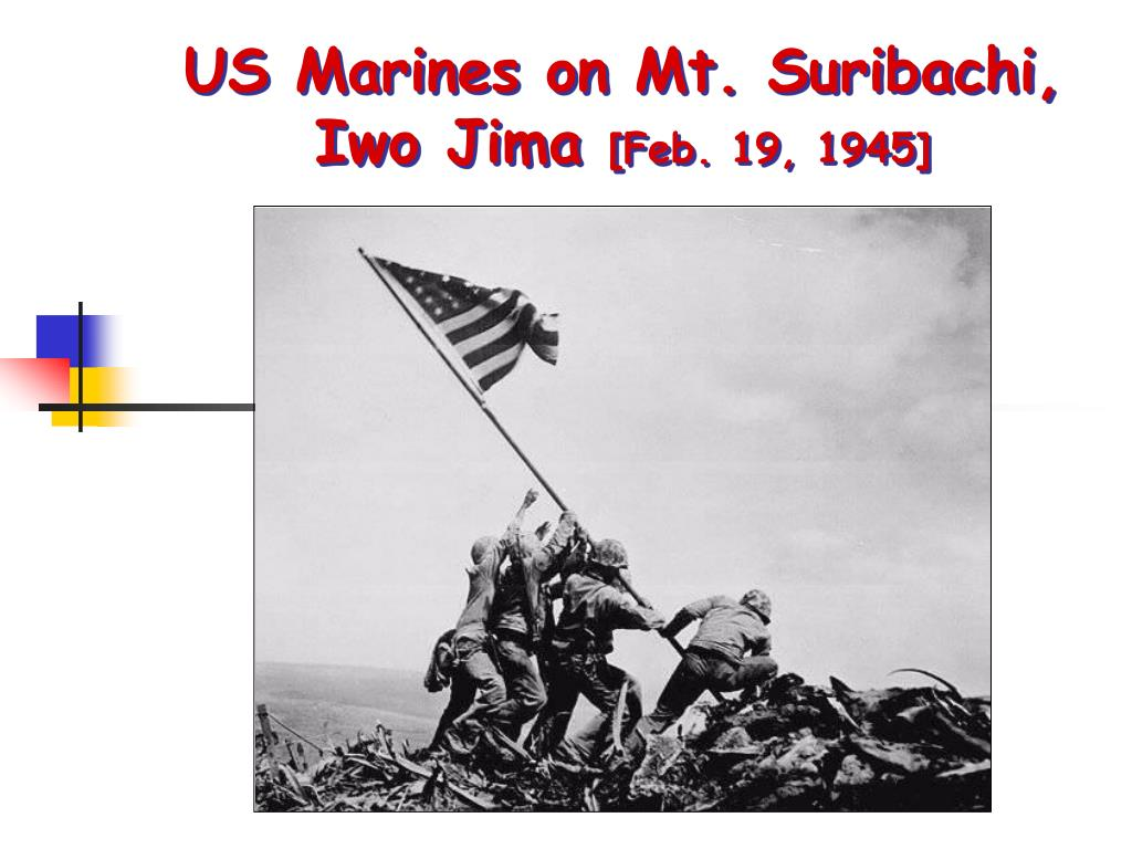 US Marines on Mt. Suribachi,