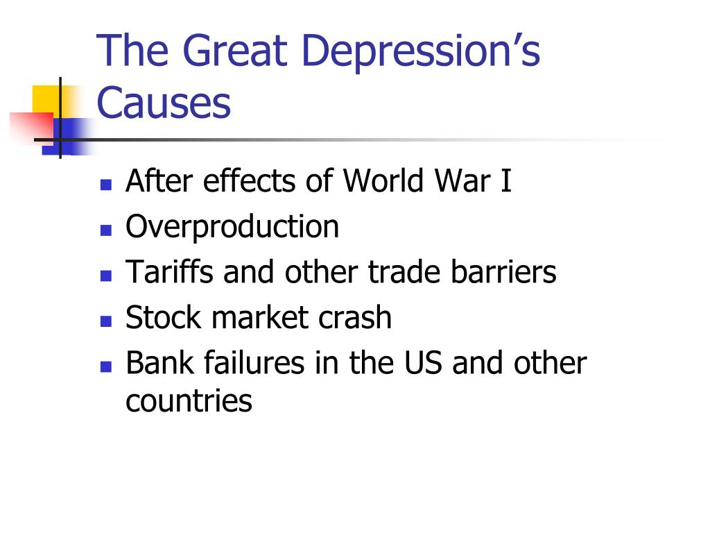 The Great Depression's Causes