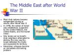 the middle east after world war ii