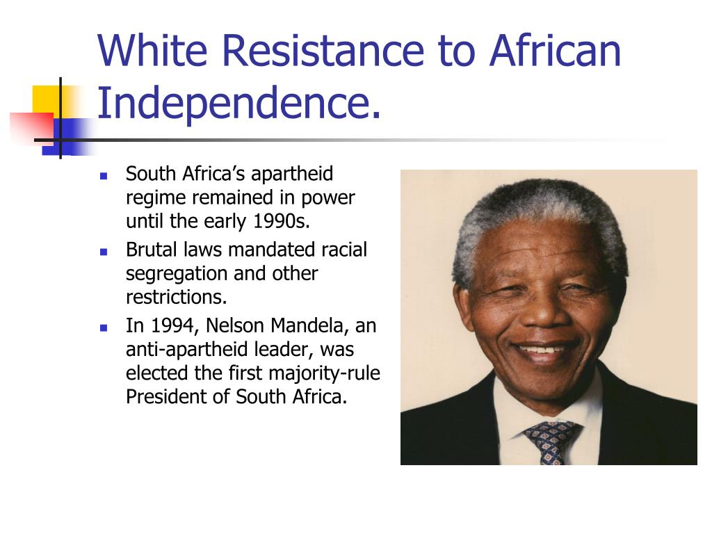 White Resistance to African Independence.