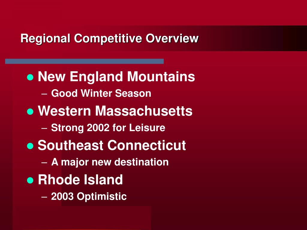 Regional Competitive Overview
