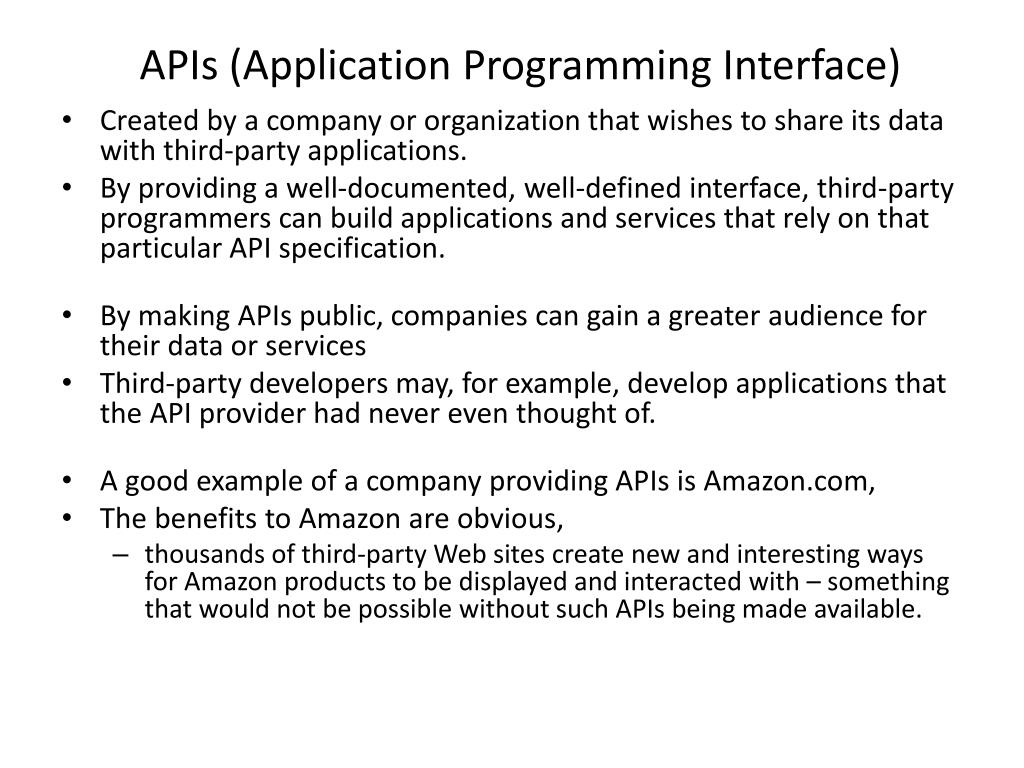 APIs (Application Programming Interface)