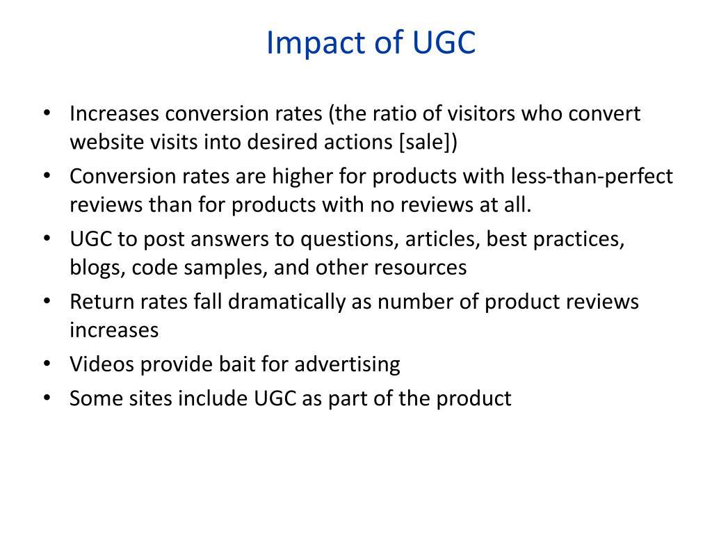 Impact of UGC
