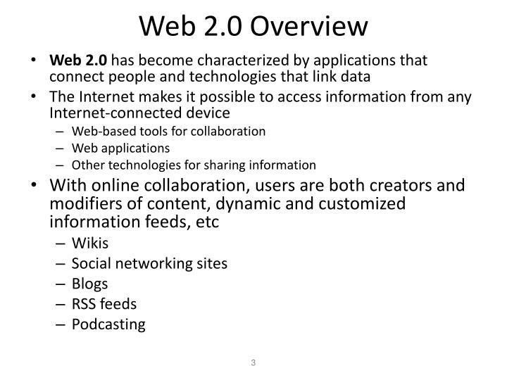 Web 2 0 overview