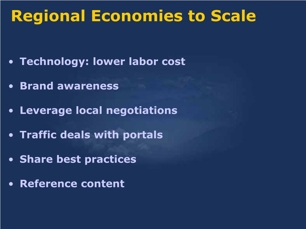 Regional Economies to